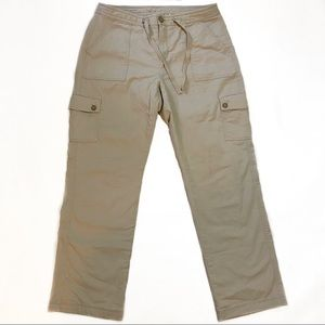 LL Bean Favorite Fit Flannel Tan Cargo Pant 8P